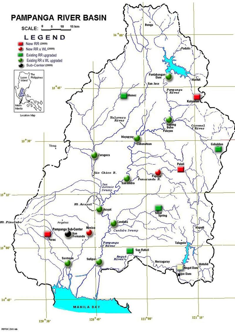 Basin Map Pampanga River Basin Flood Forecasting